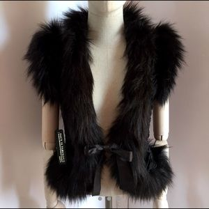 Brand New Bebe Black Faux Fur and Velvet Vest! 🖤